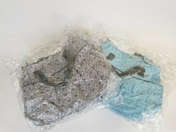waterproof diaper bags blue and black set