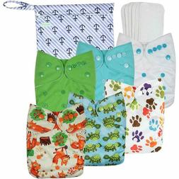 Wegreeco Washable Reusable Baby Cloth Pocket Diapers 6 Pack