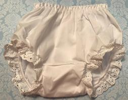 White Eyelet Trimmed Bloomers Diaper Cover Baby & Toddler Si
