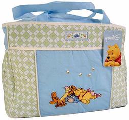 Disney Winnie The Pooh Blue Green Baby Large Tote Diaper Bag