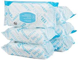 Amazon Elements Baby Wipes, Unscented, Flip-Top Packs, 480 C