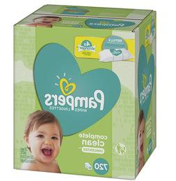 Pampers Baby Wipes Complete Clean Unscented 10X Refills, 720
