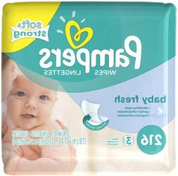 Pampers Wipes Refill Pack of 4 Baby Fresh Scented, 864 CT