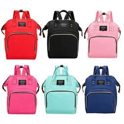 Women Mummy Maternity Travel Backpack Large Capacity Baby Nu